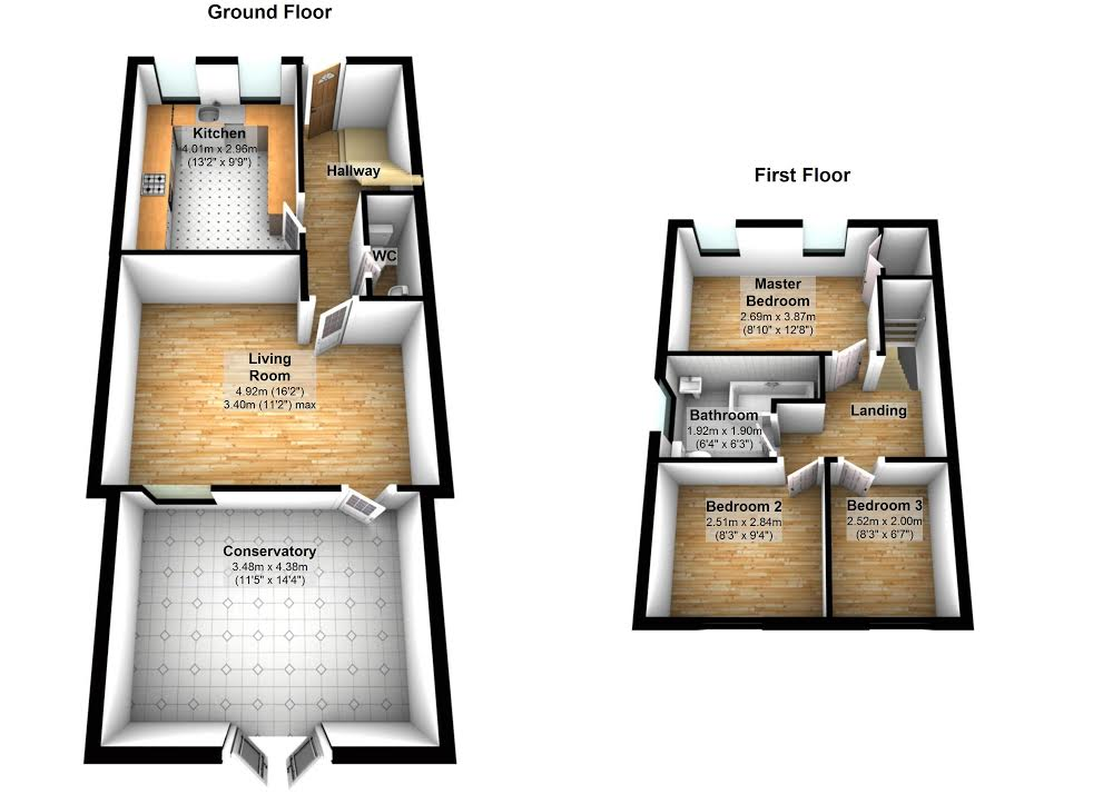 3D Floor Plans for any room
